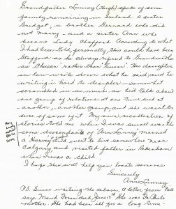 Anne Lunney letter about Bernard & Anne cropped